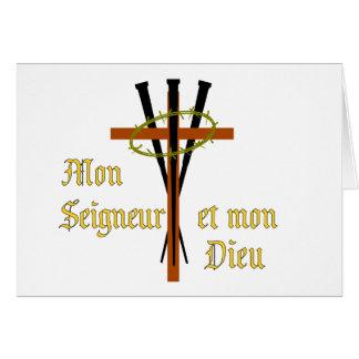 Mi señor y mi dios tarjeta de felicitación