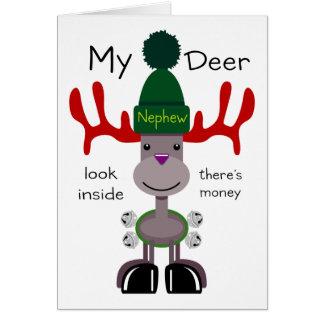 Mi sobrino de los ciervos tarjeta de felicitación