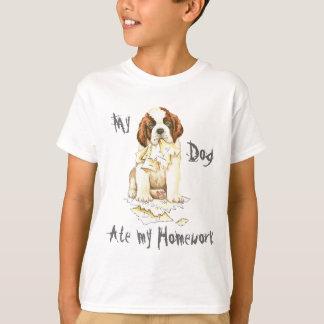 Mi St Bernard comió mi preparación Camiseta
