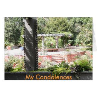 Mi tarjeta de condolencia de las condolencias