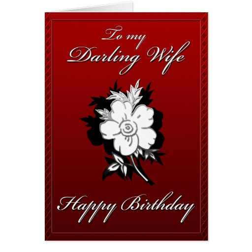 Mi tarjeta de cumpleaños querida de la esposa