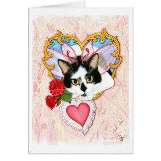 Mi tarjeta de felicitación de hadas del gato de la