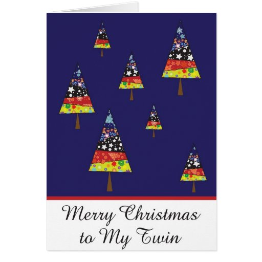 mi tarjeta de felicitación gemela del navidad