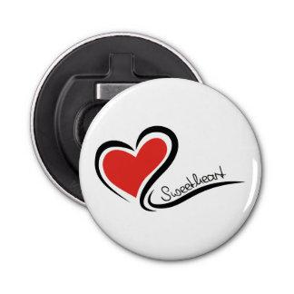 Mi tarjeta del día de San Valentín del amor Abrebotellas Redondo