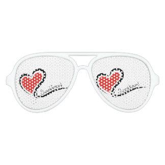 Mi tarjeta del día de San Valentín del amor Gafas De Fiesta De Aviador