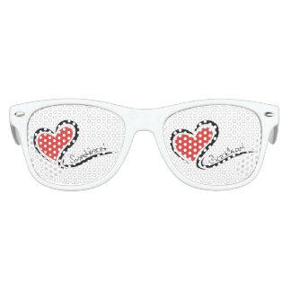 Mi tarjeta del día de San Valentín del amor Gafas De Fiesta Retro