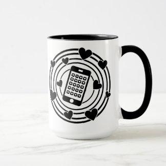 ¡Mi teléfono es el centro de mi universo! Taza