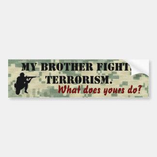 Mi terrorismo de las luchas de Brother Pegatina Para Coche