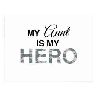 Mi tía es mi camuflaje de Digitaces del héroe Tarjetas Postales