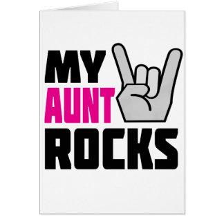 Mi tía Rocks Tarjeta De Felicitación