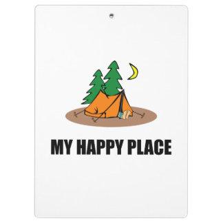 Mi tienda de campaña feliz del lugar