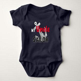 Mi tío es marinero body para bebé