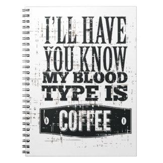 Mi tipo de sangre cuaderno