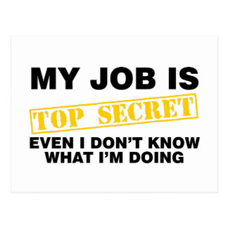 Mi trabajo es secretísimo postal