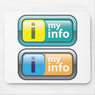 Mi vector del botón del Info Alfombrilla De Ratón