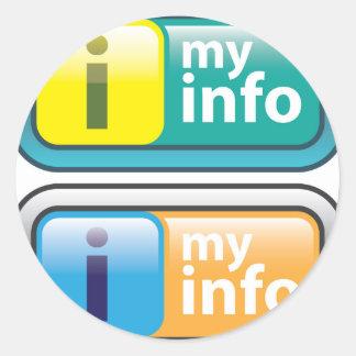 Mi vector del botón del Info Pegatina Redonda