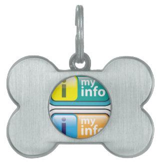 Mi vector del botón del Info Placas De Mascota