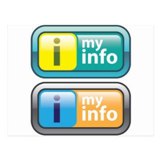 Mi vector del botón del Info Postal
