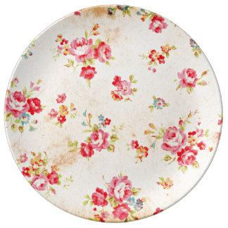 Mi vintage subió plato de cerámica