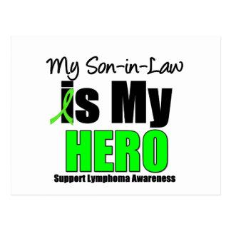 Mi yerno es mi héroe - linfoma tarjeta postal