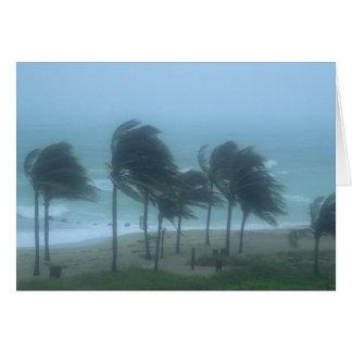 Miami Beach, la Florida, el azotar de los vientos Tarjeta