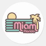 Miami Pegatina Redonda