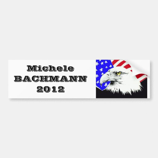 Micaela Bachmann para el presidente 2012 Etiqueta De Parachoque