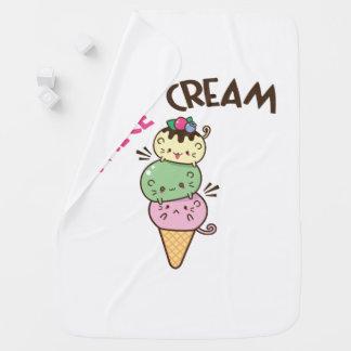 Micecream (helado) mantita para bebé