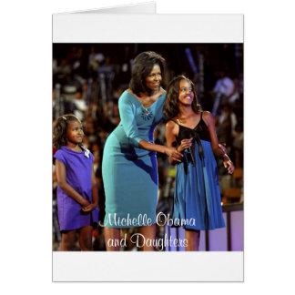 Michelle Obama e hijas Tarjeta De Felicitación