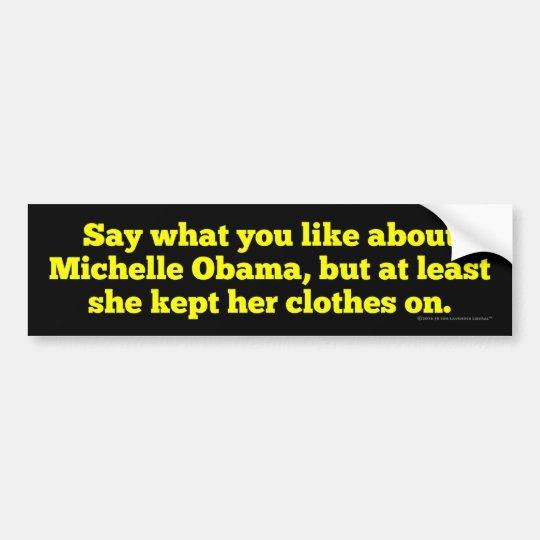 Michelle Obama la guardó ropa encendido Pegatina Para Coche