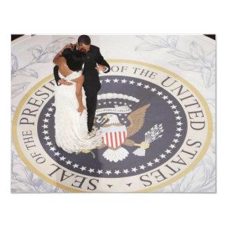 Michelle y Barack Obama Invitación 10,8 X 13,9 Cm