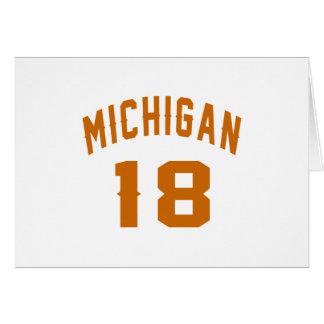 Michigan 18 diseños del cumpleaños tarjeta