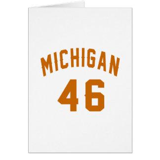 Michigan 46 diseños del cumpleaños tarjeta