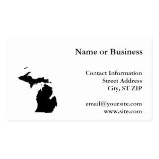 Michigan en blanco y negro tarjeta de visita