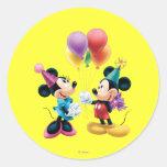 Mickey Mouse y cumpleaños de Minnie Etiqueta
