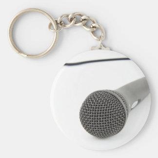 Micrófono - charla a mí llavero redondo tipo chapa