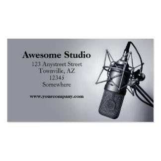 micrófono del estudio tarjeta de negocio