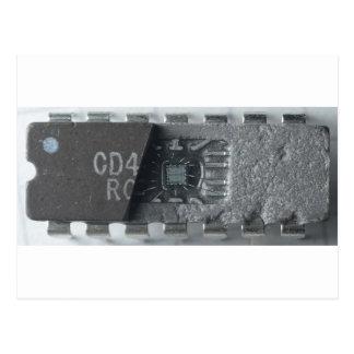 Microprocesador del circuito integrado postal
