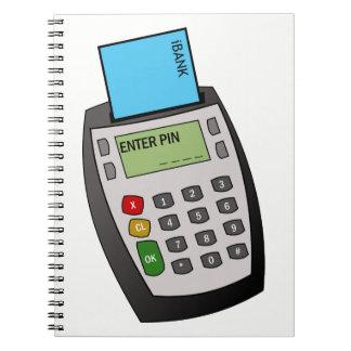 Microprocesador y máquina del Pin Cuaderno