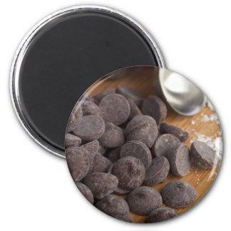 Microprocesadores de chocolate imán redondo 5 cm