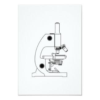 Microscopio de la ciencia invitación 8,9 x 12,7 cm