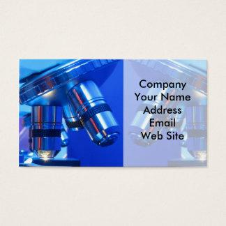 Microscopio de la investigación tarjeta de negocios