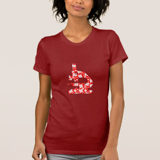 Microsope modelado floral camisetas