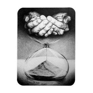 """""""Mida el tiempo"""" del imán surrealista de la foto d"""
