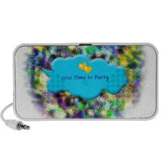 Mida el tiempo para ir de fiesta 2013 Años Nuevos Laptop Altavoces