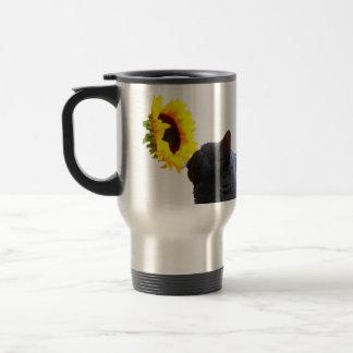 Mida el tiempo para oler las flores taza de viaje