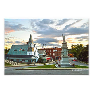 Middlebury, Vermont, en la puesta del sol Foto