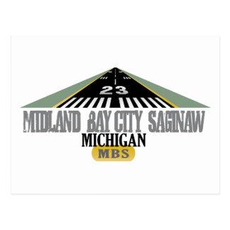 Midland Bay City Saginaw MI - aeropuerto Postal