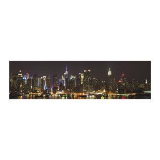 Midtown Manhattan según lo visto de Weehawken NJ Impresiones De Lienzo