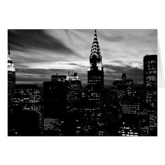 Midtown negro y blanco de New York City Tarjeta De Felicitación